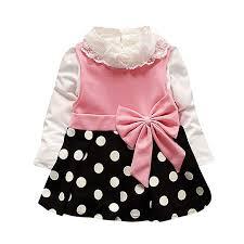 Iuhan 2Pcs Toddler Baby <b>Girl Winter Lace</b> Shirt +Dot Bow Princess ...