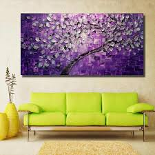 NEW <b>pop</b> 100% <b>Handmade oil Painting</b> Yellow flowers Pictures on ...