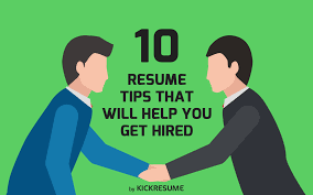 resume tips that will help you get hired 10 resume tips that will help you get hired infographic