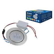 <b>Встраиваемый светильник Volpe</b> ULM-Q262 3W/WW IP65 SILVER ...