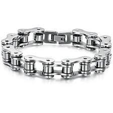 SunnyHouse New Men's <b>Titanium</b> Stainless <b>Steel Bracelet</b> Harley ...