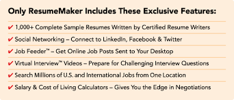 resumemaker com   write a better resume  get a better jobonly resumemaker includes these exclusive features