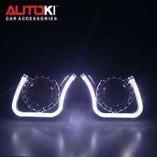 <b>Autoki</b> 3.0inch <b>Full</b> Metal Lens+LED Angel Eyes+devil eyes for <b>Car</b> ...