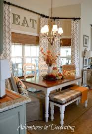 room buy breakfast nook set: i love the way this nook is set up with the long table instead of round