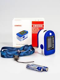 <b>Пульсоксиметр CONTEC</b> на палец для измерения кислорода в ...