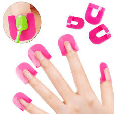 <b>26Pcs</b>/Set Manicure Nail Polish Shield <b>Protector Case Finger</b> Nails ...