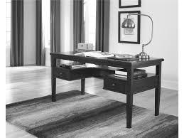 rectangle black wooden desk with amazing office desk black 4