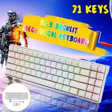 Royal Kludge <b>RK71</b> 71 Keys Dual Mode bluetooth 3.0 + USB Wired ...