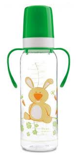 canpol babies бутылочка с силиконовым носиком от 6 месяцев цвет розовый белый 250 мл