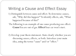 definitions and essay format cause and effect writing    ppt downloadwriting a cause and effect essay   distinguish between cause and effect  to determine