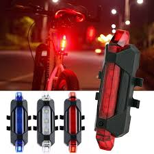 USB <b>Rechargeable</b> Bike <b>Rear</b> Light <b>Tail</b> Lamp <b>LED</b> Bicycle Warning ...