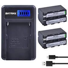 Batmax 2Packs 5200mAh NP-F750 Li-ion Battery + ... - Amazon.com