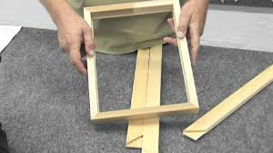How to Make a <b>Canvas Frame</b> - YouTube