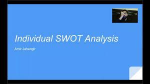 individual swot analysis amir jahangir individual swot analysis amir jahangir