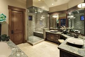bathroom place vanity contemporary: classic rustic contemporary master bathroom with vessel sinks
