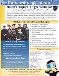 master s program in higher education