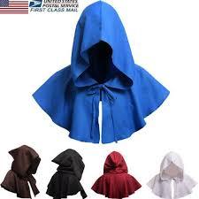 US Fancy Dress <b>Adults Hooded Cloak Gothic</b> Devil Vampire Cape ...