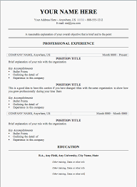 free resume samples free  seangarrette co  resume samples