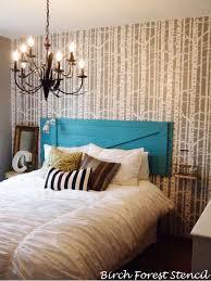 painting bedroom bedroom decorating birch forest stencil transformation stencil