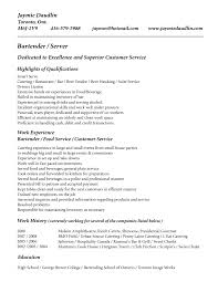 bartending resume duties cipanewsletter bartender resume skills best business template