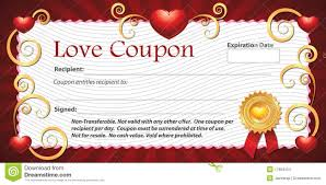best photos of love gift certificate template printable blank love coupons templates