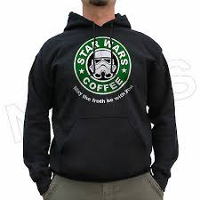 <b>Star Wars Coffee May</b> The Froth Be With You Funny Cool Jumper ...