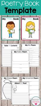 best ideas about title page template project students can create their very own poetry books this template poems include acrostic