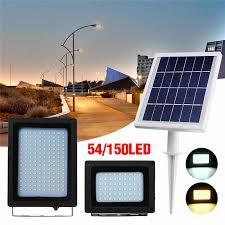 Mising <b>150 LED</b> Solar Light <b>Solar Powered</b> Flood Light 3528 SMD ...