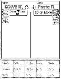 Addition and subtraction, Math and Ice on PinterestSolve it, cut it, paste it, sort it!