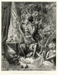 don quixote don quixote goes mad from his reading of books of chivalry engraving by gustave doreacute