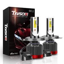 <b>G2R</b> H4-H/L <b>COB LED</b> Headlight Kit 8000LM For Cars 6000K White ...