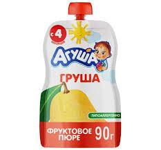 "<b>ПЮРЕ</b> ""<b>Агуша</b>"" <b>фруктовое</b>, 90 г, в ассортименте"