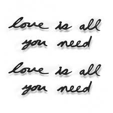Купить <b>Надпись декоративная Love is</b> all you need настенная ...