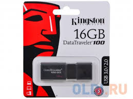 <b>USB флешка Kingston</b> DataTraveler <b>DT100G3</b> 16GB Black ...