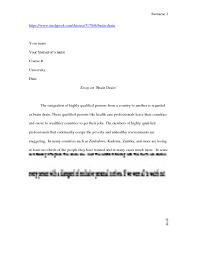 braindrain essay studypool