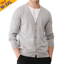 4Colors 2017 <b>Autumn New</b> Men <b>Cardigan Sweater</b> 100% Cotton ...