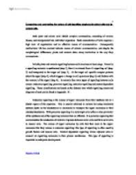 should animal testing be banned    university biological sciences    comparing and contrasting the nature of cell signalling employed by plant cells and by