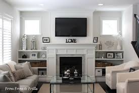great room fireplace built ins built living room