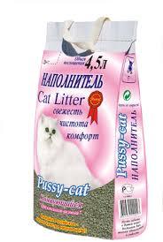 <b>Пусси Кэт комкующийся</b> розовый наполнитель для кошачьего ...