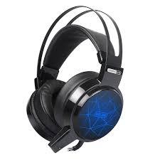 SOMIC C13 3.5mm LED Light PU Leather Soft Headset Noise ...