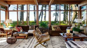 rustic style living room clever:  cedaed  hbx midcentury leather slung chair roberts  de