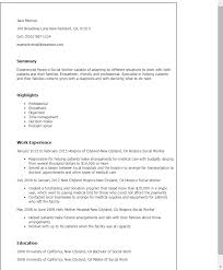 Professional Hospice Social Worker Templates to Showcase Your     My Perfect Resume