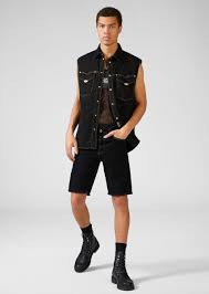 <b>Versace Jeans</b> Couture Heritage Gold <b>Metal</b> Hardware <b>Denim</b> ...