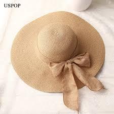 <b>USPOP 2019</b> fashion women sun hats hand made straw hat female ...