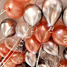 <b>10Pcs</b>/<b>lot 12inch</b> Glossy Metal Latex <b>Balloons Glitter Confetti</b> ...