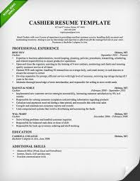 Example Resume  Professional Experience And Education For Sample Resume Cashier Customer Service  Sample Resume