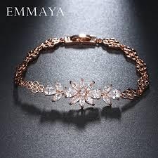 <b>EMMAYA</b> Fashion Women Rose Gold Color CZ Stones <b>Austrian</b> ...