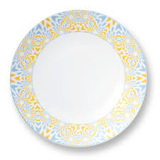 charger plates decorative: yellow amp gray frazier porcelain charger plate