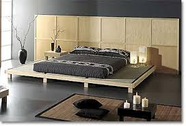 tatami platform bed with geometric headboard asian style bedroom furniture asian inspired bedroom furniture