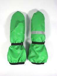 Рукавицы детские, непромокаемые <b>утепленные</b>, цвет зеленый ...
